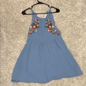 Blue dress with flowers